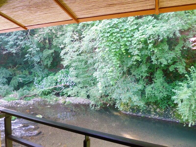 東府や Resort&Spa Izuの部屋からみえる川の景色
