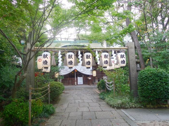 大阪 堀越神社の境内の様子