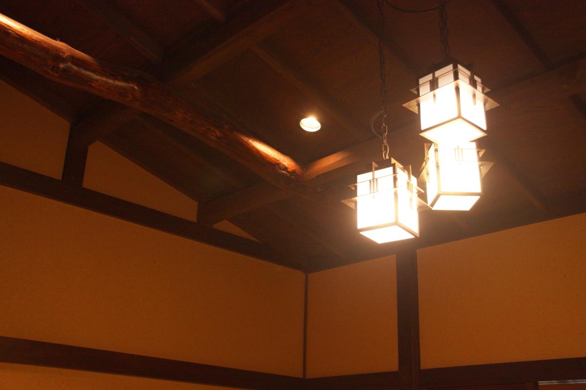 箱根塔ノ沢温泉_山の茶屋 山の朝 天井