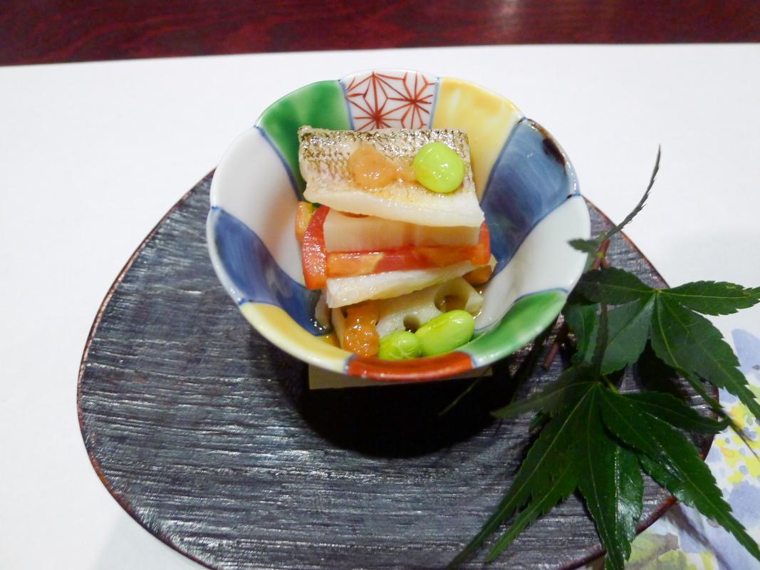 箱根塔ノ沢温泉_山の茶屋 夕食 酢の物