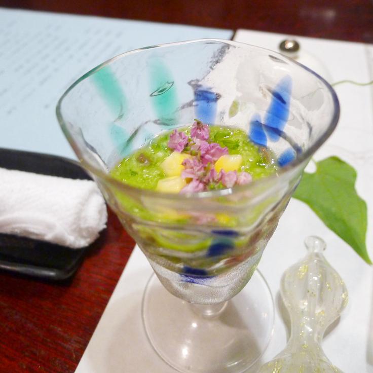 箱根塔ノ沢温泉_山の茶屋 夕食 オクラすり流し