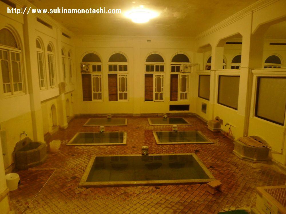 群馬県・四万温泉『積善館』~その④お風呂編~大正ロマンの薫り溢れる『元禄の湯』がすばらしい!!飲泉所もあり。体の内側から温まります。