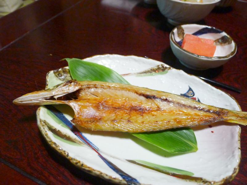 箱根塔ノ沢温泉_山の茶屋 朝食 かますの焼き魚