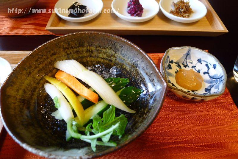 萃 sui-諏訪湖(すい すわこ) 個室食事処でいただく朝食メニュー紹介 野菜スティック