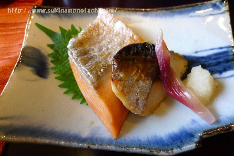 萃 sui-諏訪湖(すい すわこ) 個室食事処でいただく朝食メニュー紹介 焼き魚