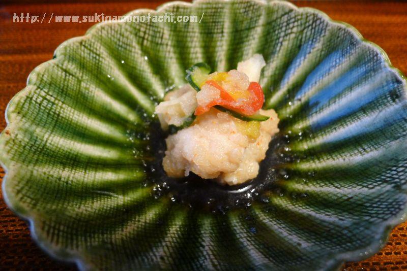 萃 sui-諏訪湖(すい すわこ)の個室食事処でいただく夕食 鱧南蛮漬け