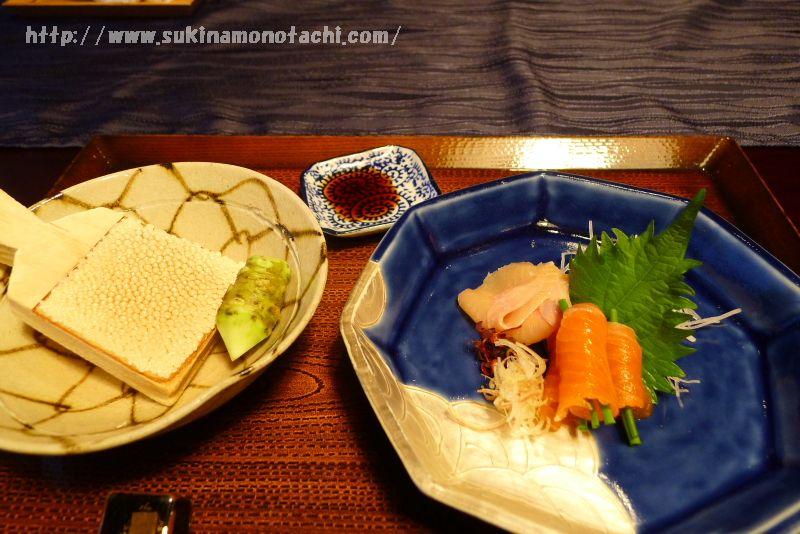萃 sui-諏訪湖(すい すわこ)の個室食事処でいただく夕食  御造り