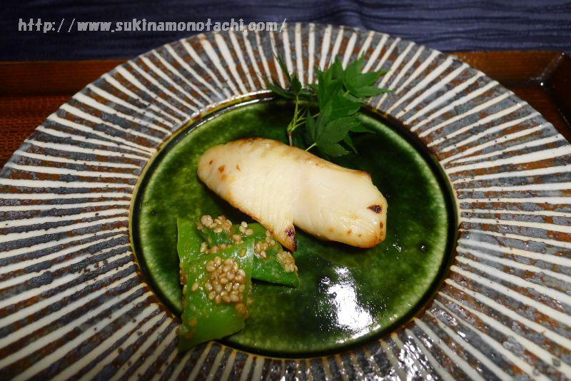 萃 sui-諏訪湖(すい すわこ)の個室食事処でいただく夕食 季節の魚の神渡酒酒粕漬け