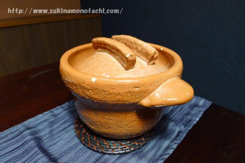萃 sui-諏訪湖(すい すわこ)の個室食事処でいただく夕食  季節の土鍋ごはん