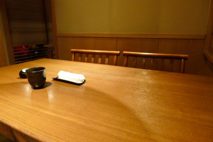 神楽坂_翔山亭 半個室のテーブル席
