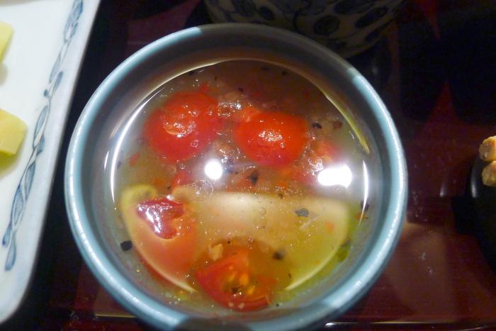 修善寺_ねの湯対山荘_朝食のトマトドレッシング