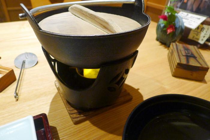 修善寺_ねの湯対山荘_朝食の小鍋(お味噌汁)