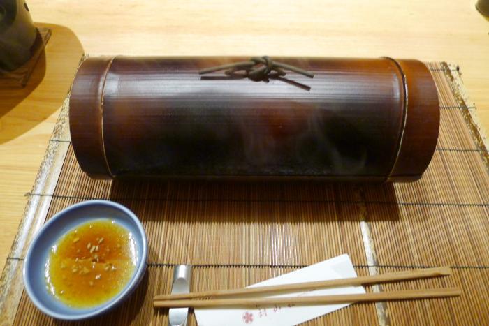 ねの湯 対山荘の夕食の焼き物