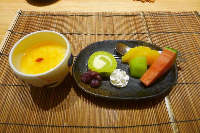 ねの湯 対山荘の夕食のデザート