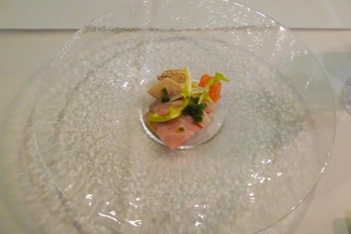 オーベルジュ湯楽、夕食、前菜二皿目