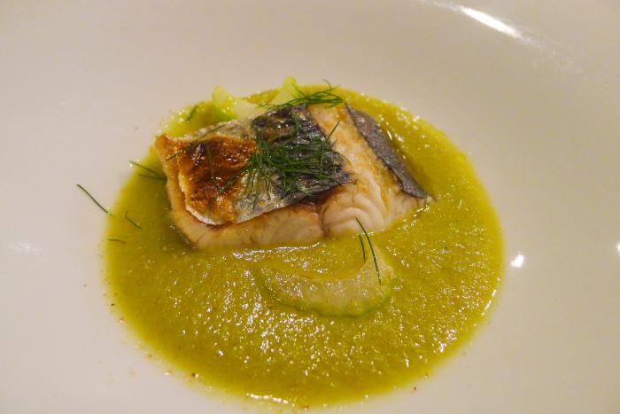 オーベルジュ湯楽の夕食、相模湾でとれた鮮魚のスープ仕立て