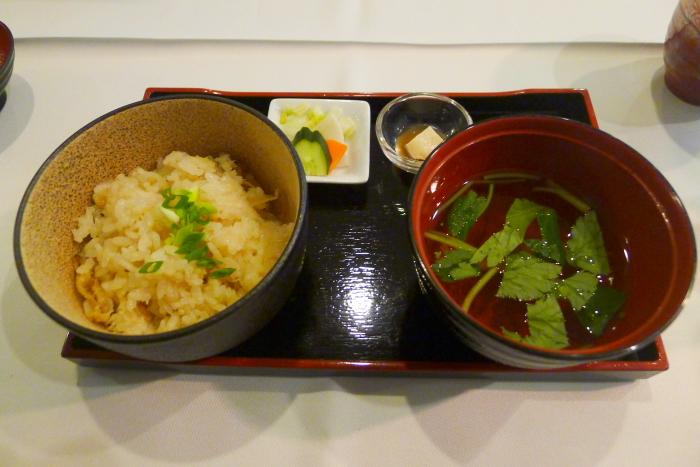 オーベルジュ湯楽の夕食、〆の皿