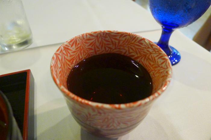 オーベルジュ湯楽のほうじ茶