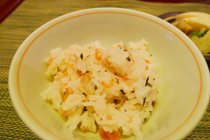 皆生温泉松月の夕食、季節替りのご飯