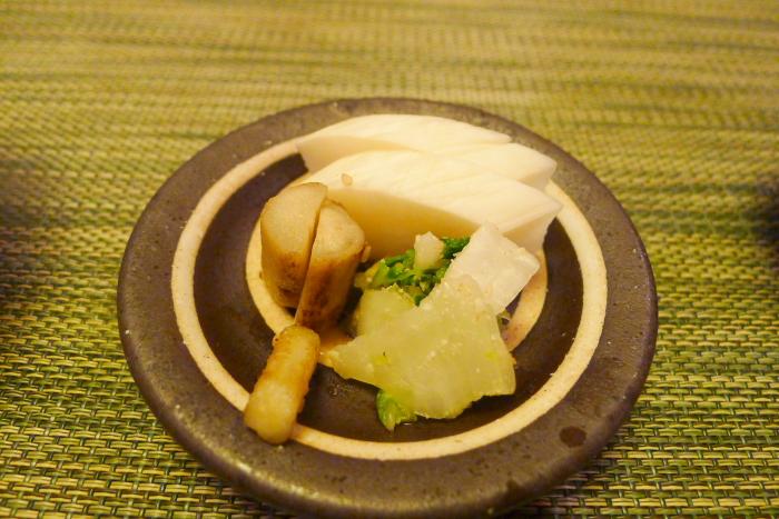 皆生温泉松月の夕食、松月の自家製漬物