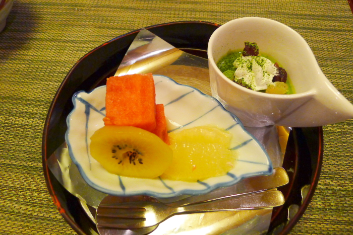 皆生温泉松月の夕食、水菓子