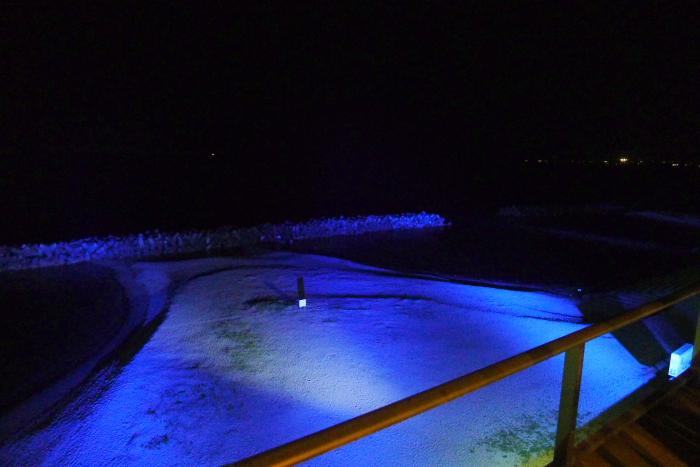 皆生温泉_松月_大浴場から見た海の景色