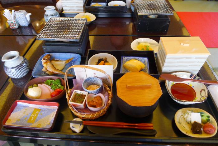 皆生温泉の松月の朝食