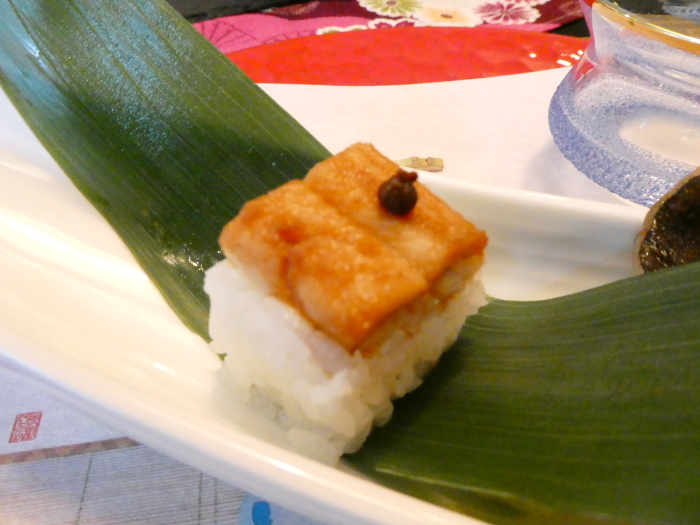 オーベルジュ鈴鐘_夕食 前菜の個別写真 アナゴ寿司