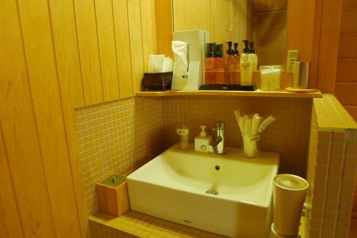 ねの湯対山荘_大浴場の洗面台