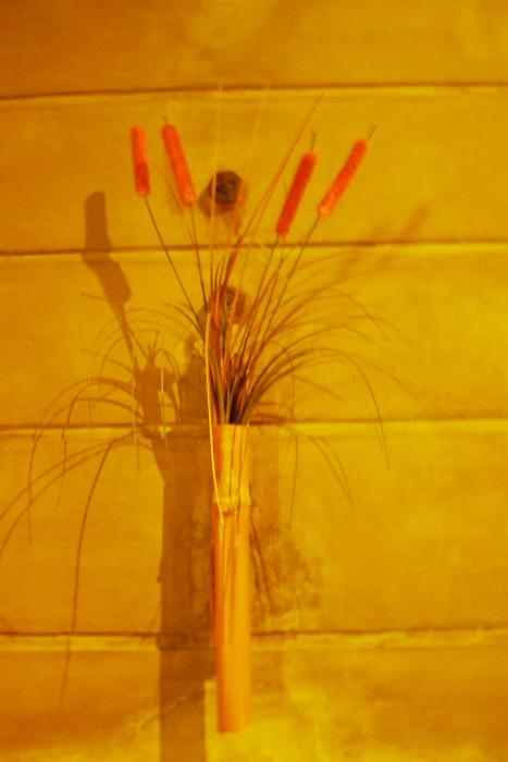 ねの湯対山荘_大浴場の花