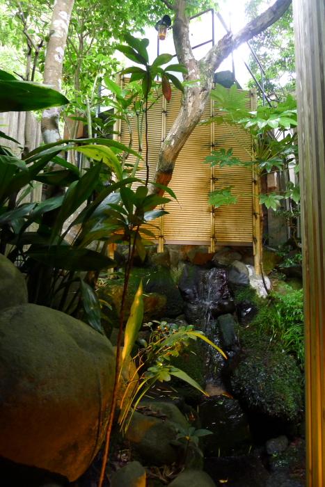ねの湯対山荘_大浴場の中庭