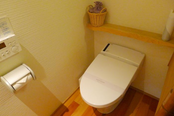修善寺温泉_ねの湯対山荘_メゾネット式客室 1階トイレ