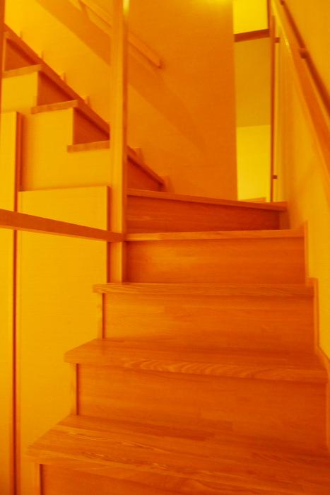 修善寺温泉_ねの湯対山荘_メゾネット式客室 階段