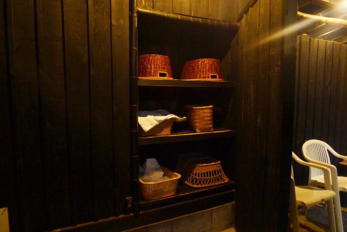 オーベルジュ湯楽 貸切露天風呂の脱衣所