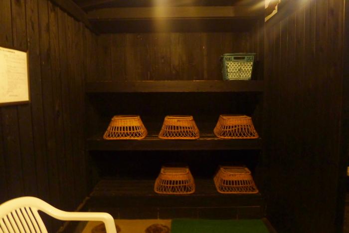 オーベルジュ湯楽 貸切露天風呂の休憩スペース