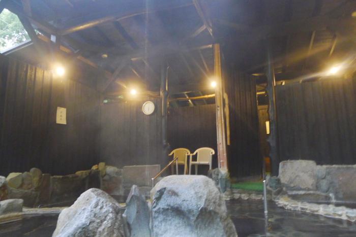 オーベルジュ湯楽 貸切露天風呂の全景
