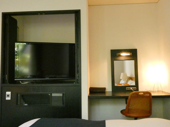 オーベルジュ鈴鐘 藍の寝室にあるテレビ