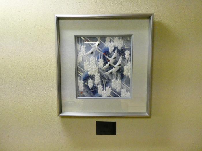 オーベルジュ鈴鐘_藍の床の間に飾られた絵