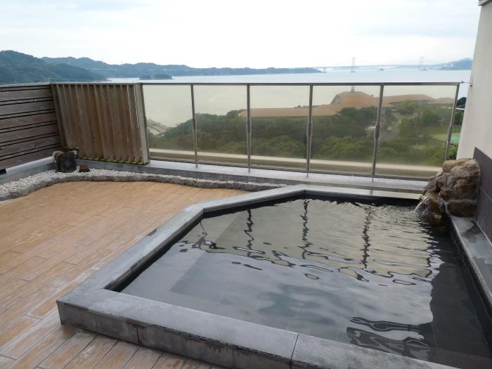 淡路島_うめ丸_うずしお温泉の大浴場(露天風呂)