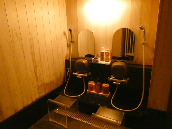 淡路島_うめ丸_うずしお温泉の貸切風呂の洗い場