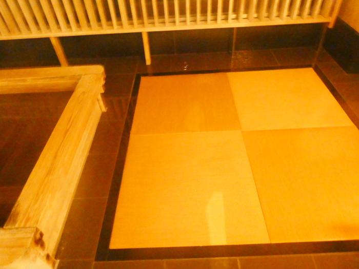 淡路島_うめ丸_うずしお温泉の貸切風呂は畳敷き