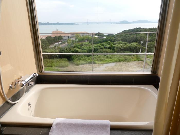 淡路島_うめ丸_露天風呂付き客室の内風呂