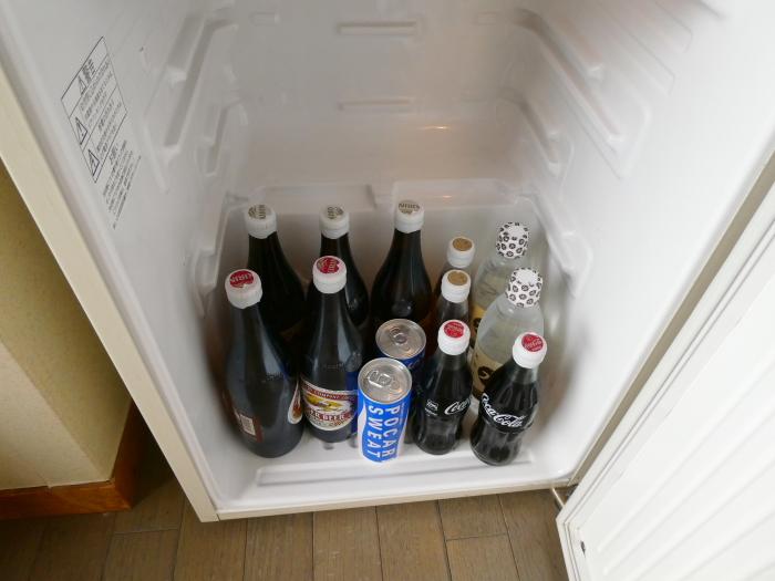 淡路島_うめ丸_露天風呂付き客室の冷蔵庫の中身