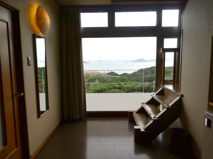淡路島_うめ丸_露天風呂付き客室から見る景色