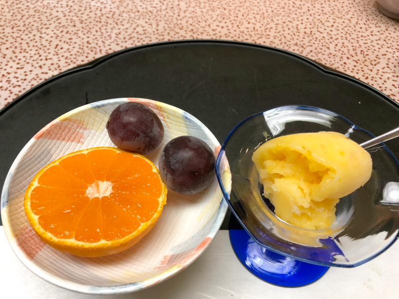 下田野の花亭こむらさきの夕食 デザート