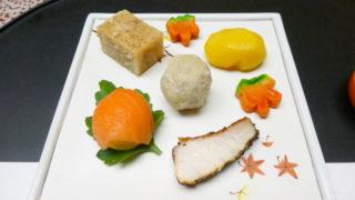 下田野の花亭こむらさきの夕食 前菜