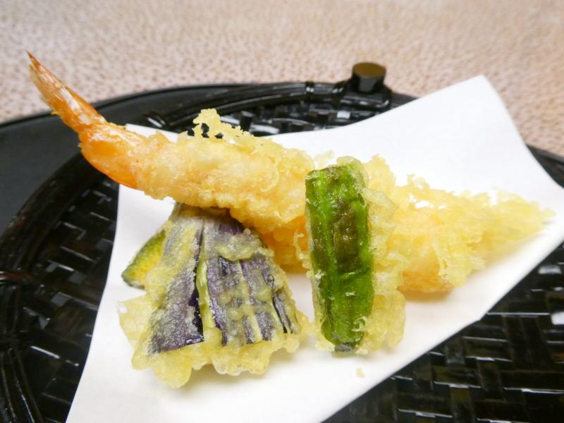 下田野の花亭こむらさきの夕食 天麩羅