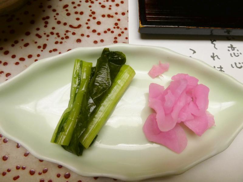 伊豆下田_野の花亭こむらさきの朝食 おつけもの