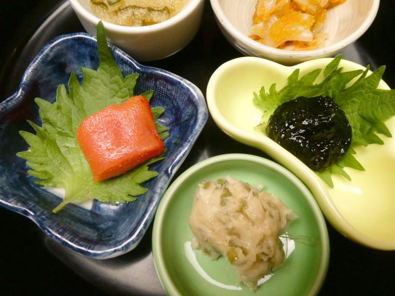 伊豆下田_野の花亭こむらさきの朝食 ごはんのおとも