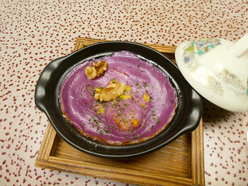伊豆下田_野の花亭こむらさきの朝食 紫いものグラタン
